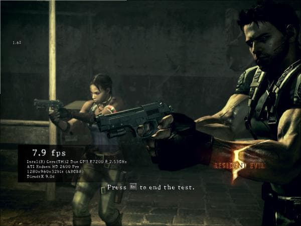 Resident evil 5 benchmark screenshot