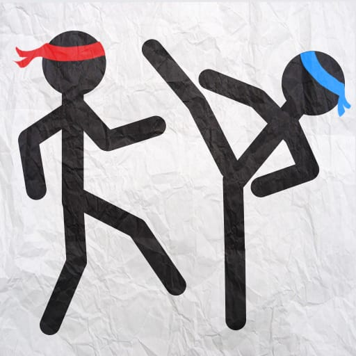 Stickman fighting deluxe logo