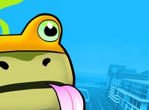 Amazing frog logo