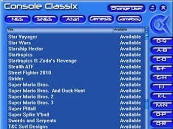 Console classix screenshot