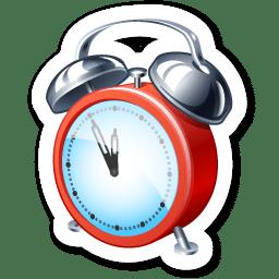 Clock alert logo